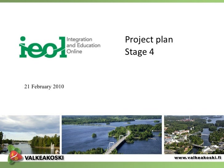 Project plan Stage 4  21 February 2010