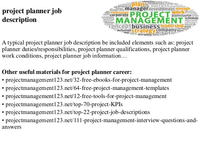Project planner job description