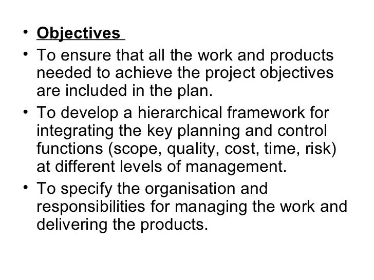 project objectives
