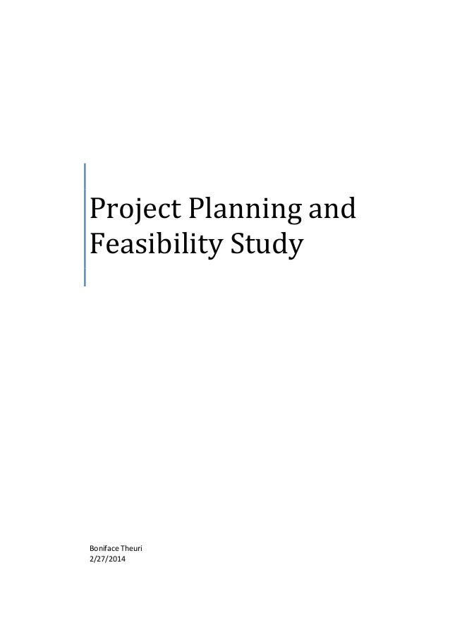 Conceptual planning and feasibility study