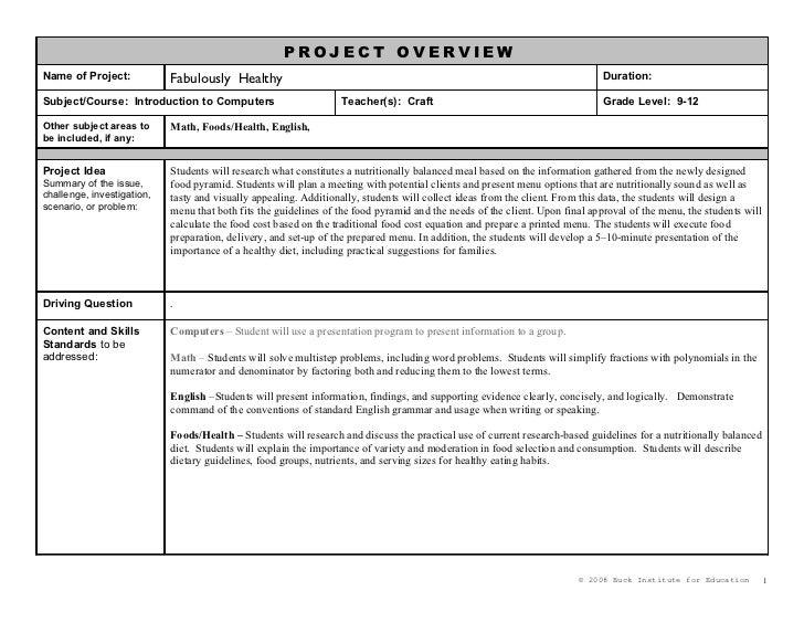 Planning Form