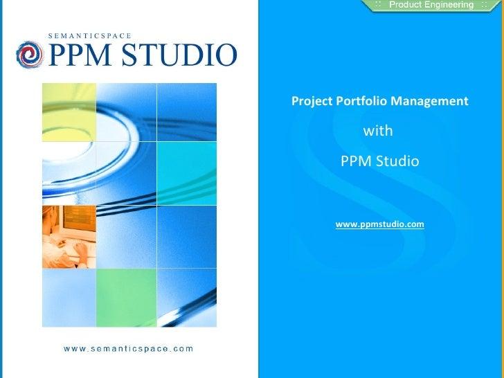 Project Portfolio Management with PPM Studio