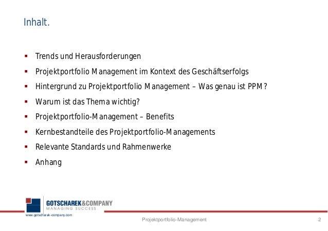 Projektportfolio Management