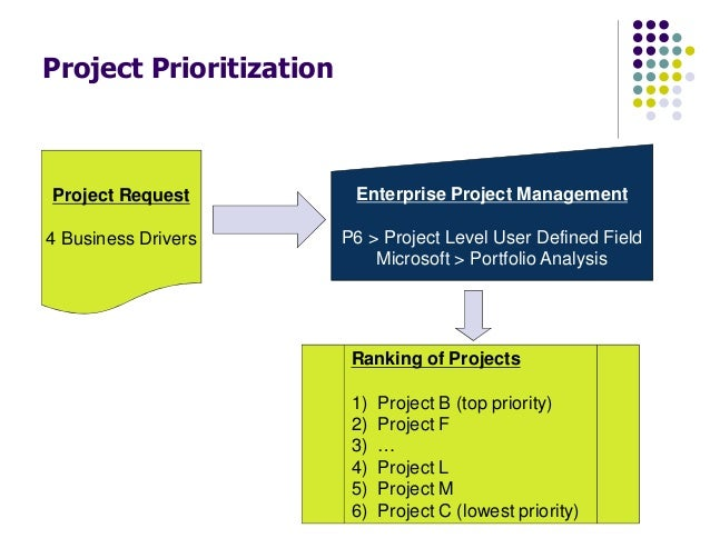 prioritizing the it project portfolio essay The use of scoring method for prioritizing the project portfolio strategies through a project portfolio used for the development of this essay 21 project.
