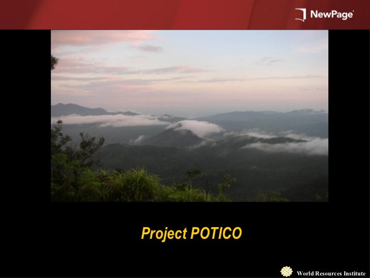 World Resources Institute Project POTICO