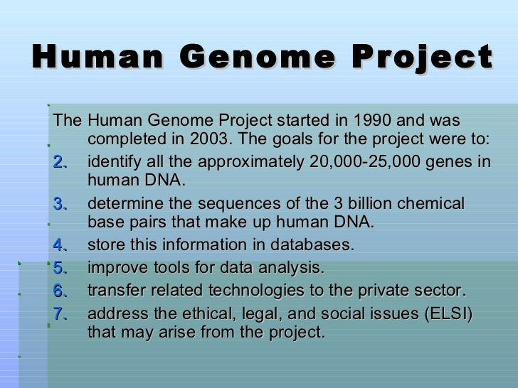 The human genome project ppt video online download.