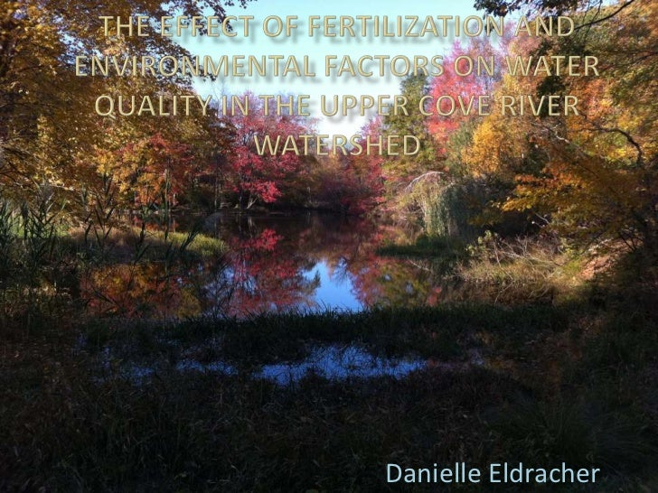 The Effect of Fertilization and Environmental Factors on Water Quality in the Upper Cove River Watershed<br />Danielle Eld...