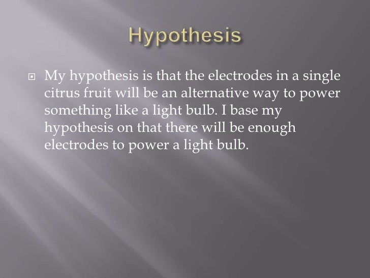 Lemon battery hypothesis