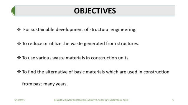 Use of waste materials as a replacement of coarse for Use of waste material