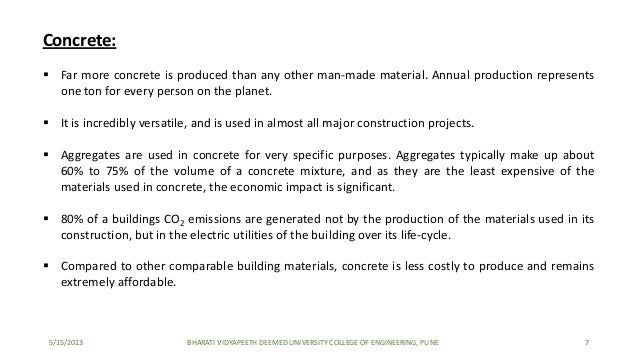 aggregates used in concrete This research was conducted with the use of recycled aggregate as modification in terms of the use of recycled aggregate, the percentage of recycled aggregate should be.
