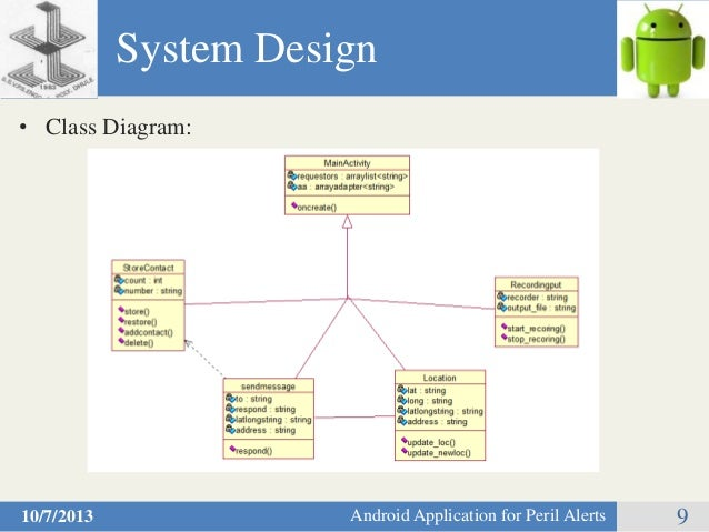 Peril alertsandroid application for human safety diagram 9 class ccuart Images