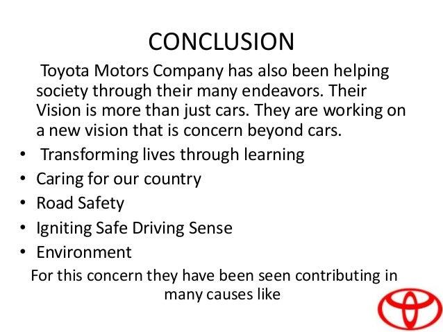 University Of Toyota >> Project on toyota central motors ppt