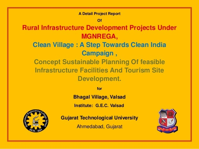 Rural Infrastructure Development Projects Under MGNREGA