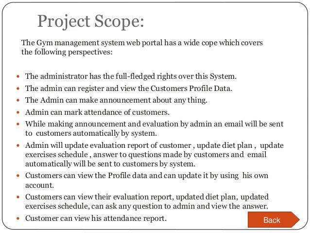 Project Scope:  The administrator has the full-fledged rights over this System.  The admin can register and view the Cus...