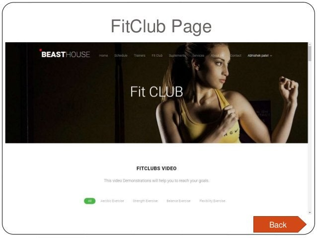 FitClub Page Back