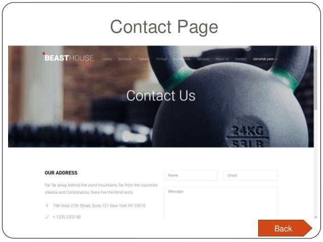 Contact Page Back