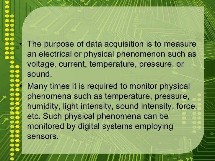 Principles Of Data Acquisition Experiment : Project ppt channel data acquisition