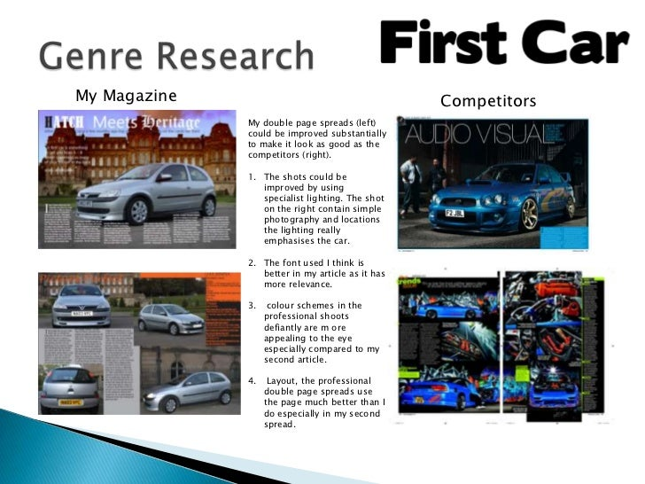 My Magazine                                       Competitors              My double page spreads (left)              coul...