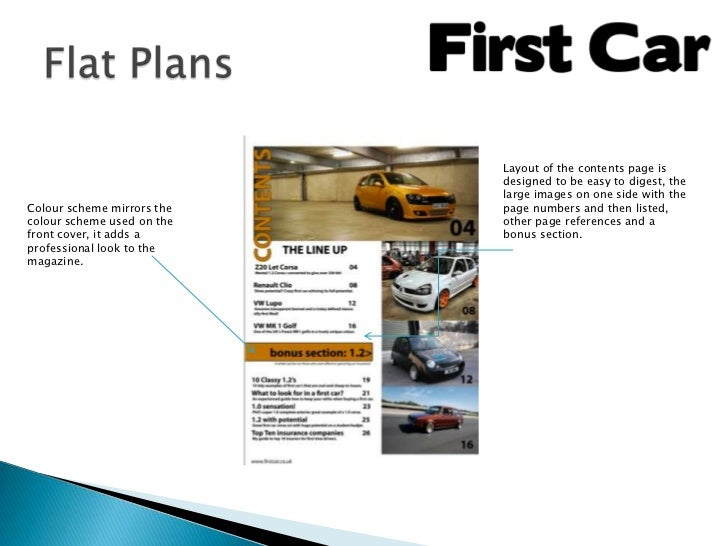 Layout of the contents page is                            designed to be easy to digest, the                            la...