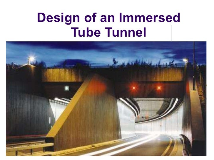 Design of an Immersed Tube Tunnel
