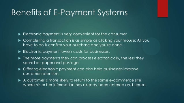 Essay on electronic payment systems