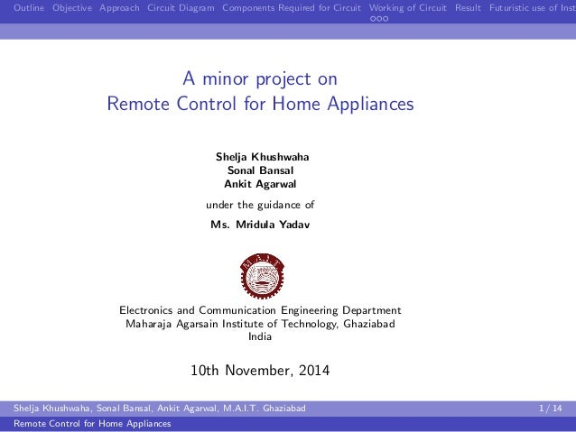 remote control for home appliances