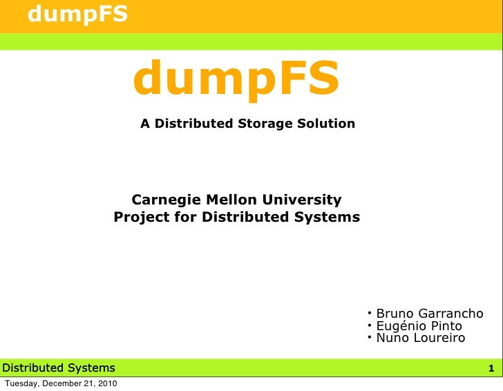DumpFS - A Distributed Storage Solution
