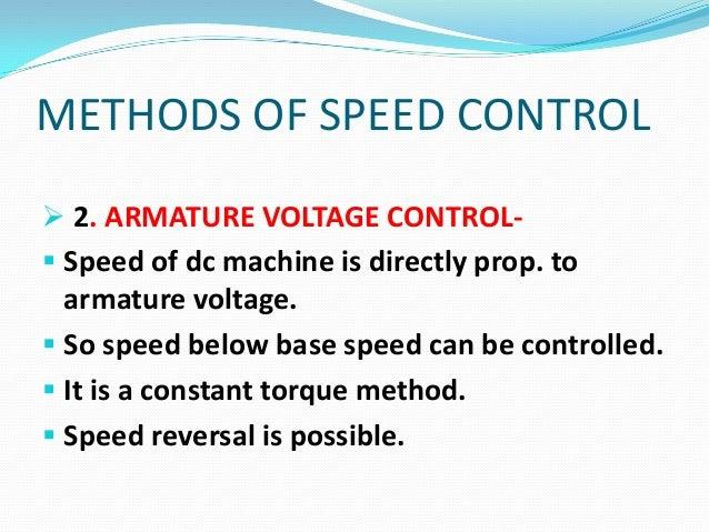 Speed control of DC Machine Slide 3