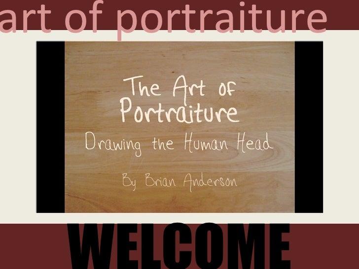 WELCOME art of portraiture