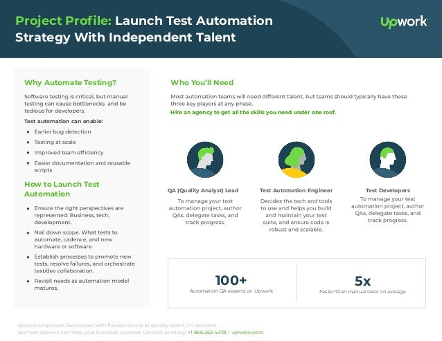Upwork empowers businesses with flexible access to quality talent, on demand. See how Upwork can help your business succeed...