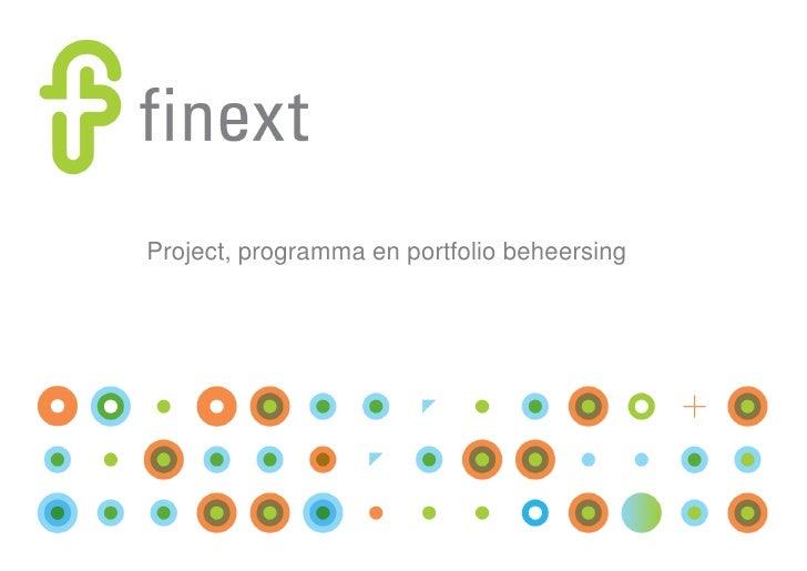 Project, programma en portfolio beheersing<br />