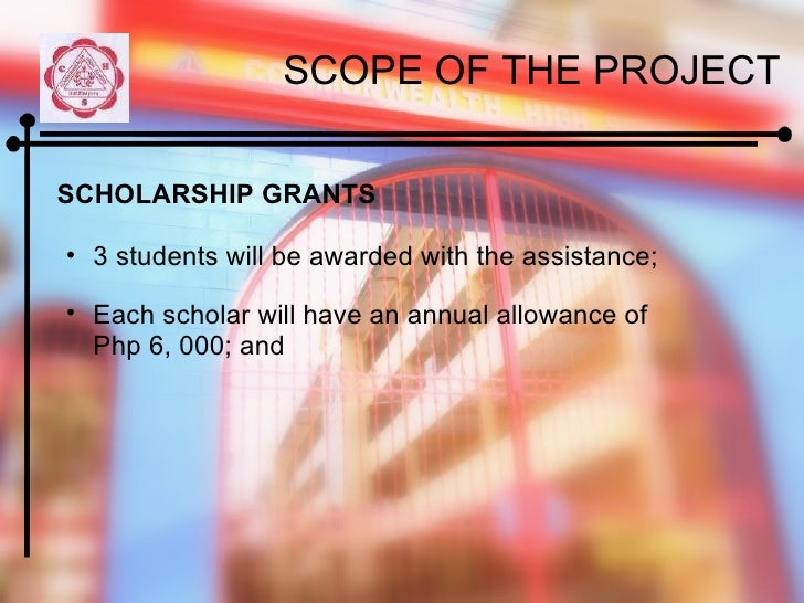 how to write a project proposal for scholarship