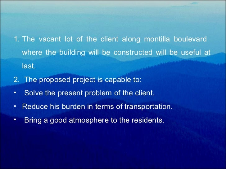 Project proposal – Construction Project Proposal