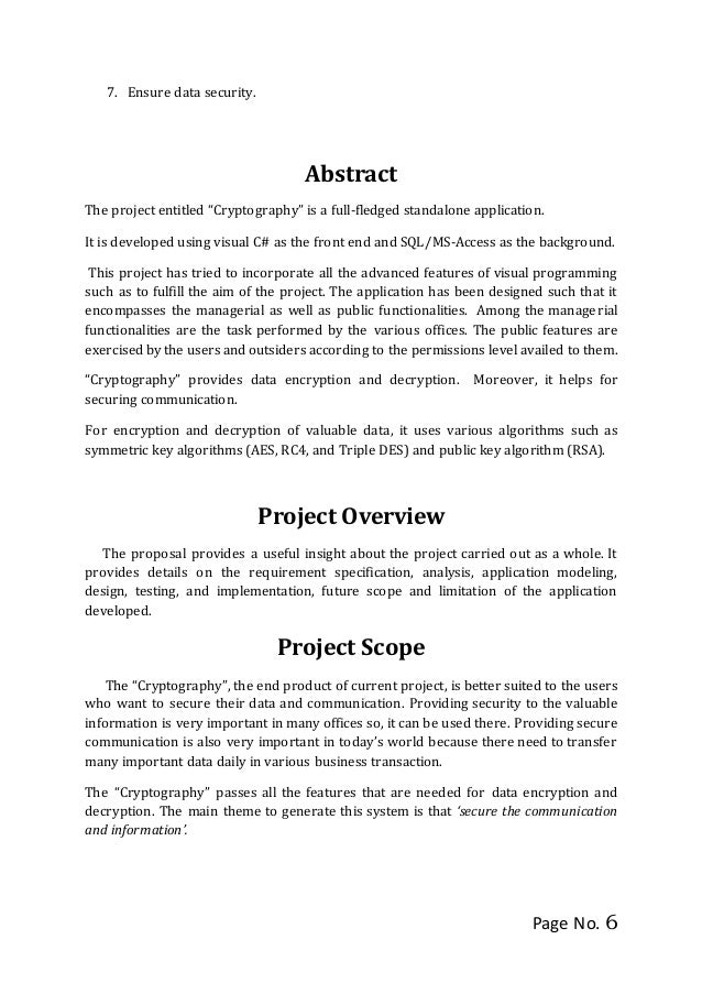 Project Proposal Module