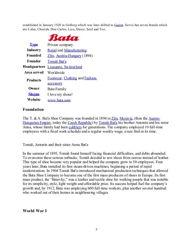 footwear business proposal Marketing plan of bata by kasi  during world war i, there found a fast expansion in the business and the company twisted to moderate manufacturing it's actually family based business and headquartered in lausanne, switzerland bata branded business, bata metro markets and bata emerging markets are the three business units operated world.
