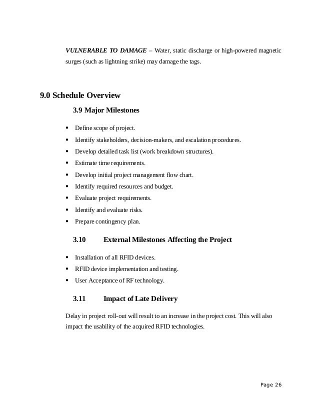 Project Proposals Template Project Proposal Sample Rfid On