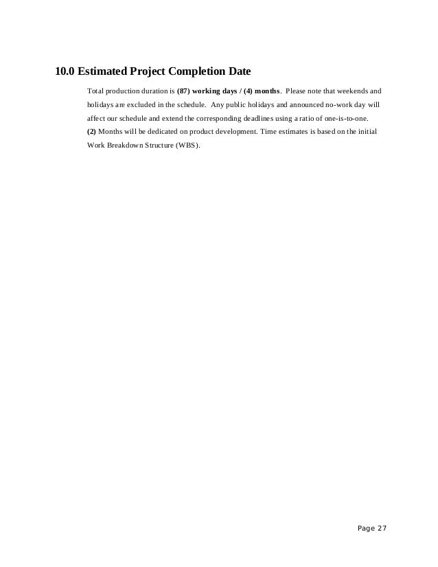 Project proposal sample rfid on warehouse management system page 26 27 100 estimated project completion altavistaventures Gallery