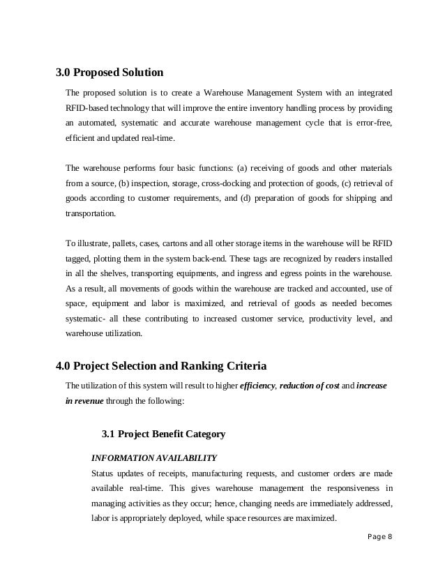 Solution Proposal Template Vosvetenet – It Project Proposal Template Free Download