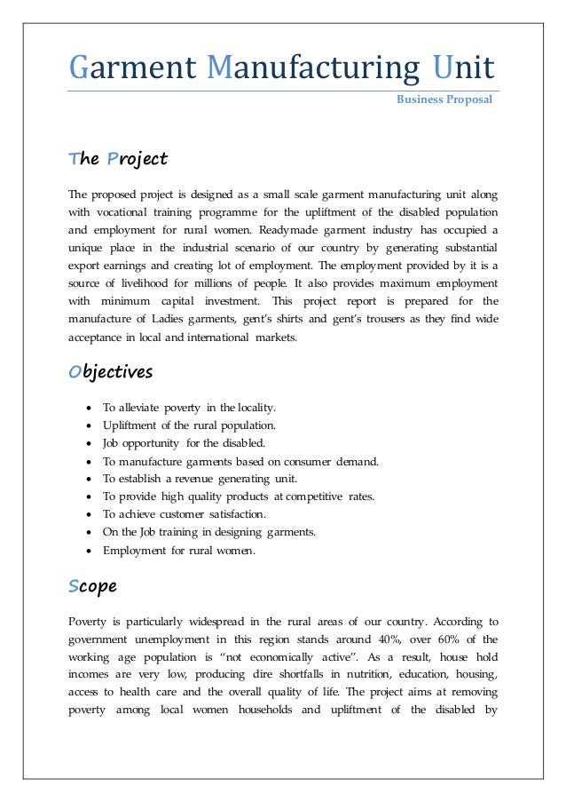 garment industry project report introduction to garment manufacturing