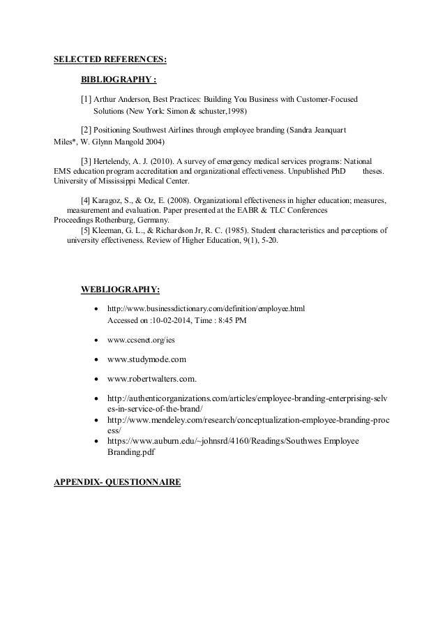 Research Proposal on Employee Branding
