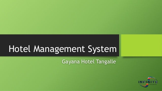 Hotel Management System Gayana Hotel Tangalle