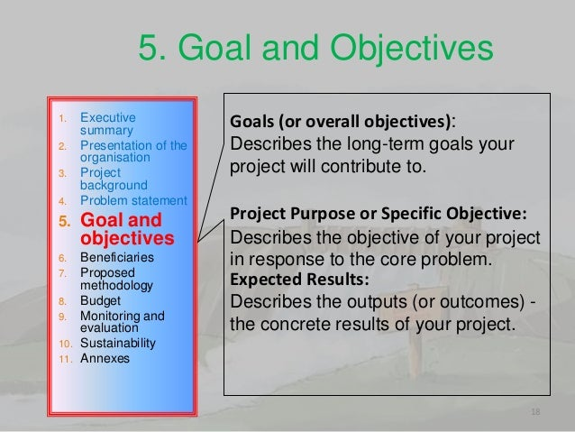 how to write objectives for a project How to write goals, objectives and outcomes that grant funders will love tuesday, january 03, 2012 contributed by: betsy baker – wwwyourgrantauthoritycom.