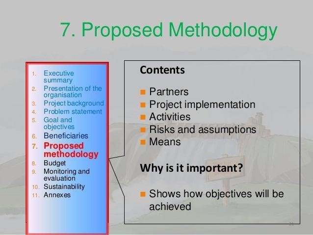 project methodology format