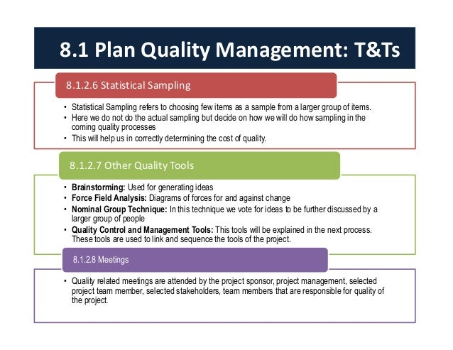 tqm project Total quality management (tqm)  this information will be helpful for you to determine quality standards and requirements for your new tqm-based project.