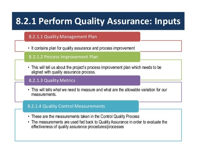 quality assurance program template - project quality management