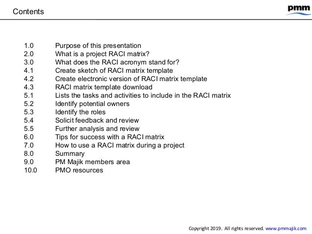 How to create and use a project RACI matrix Slide 2