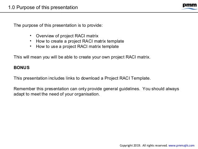 How to create and use a project RACI matrix Slide 3