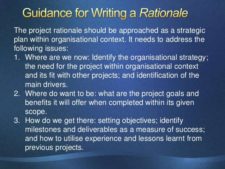 Rationale essay software