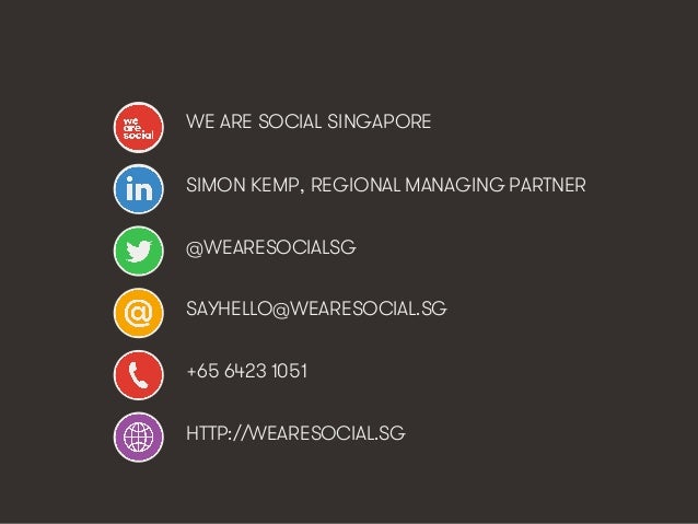 Marketing's Deadly Sins • #ProjectReconnect • 71 WE ARE SOCIAL SINGAPORE SIMON KEMP, REGIONAL MANAGING PARTNER @WEARESOCIA...