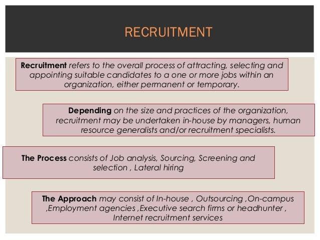 Recruitment process of an it organization Slide 2